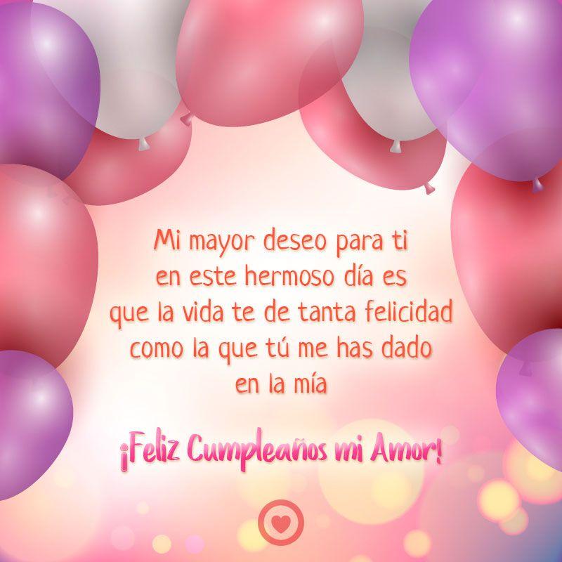 Bonita Imagen De Feliz Cumpleanos Mi Amor Wishes Happy Birthday