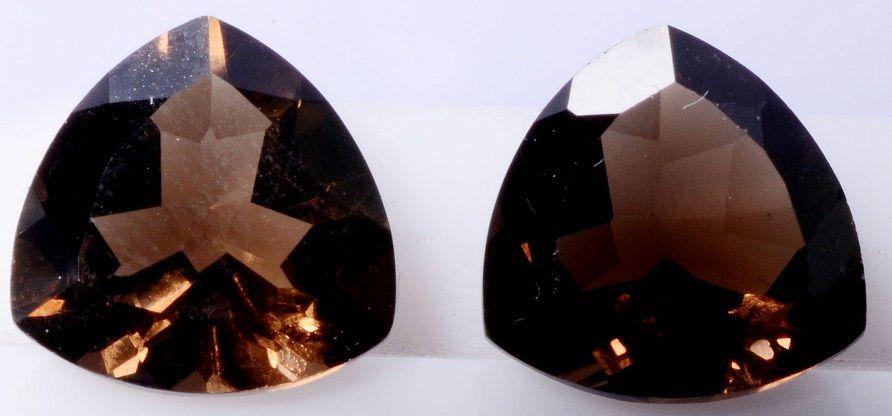 10mm Trillion Natural #Smoky Quartz faceted Cut Loose #Gemstone