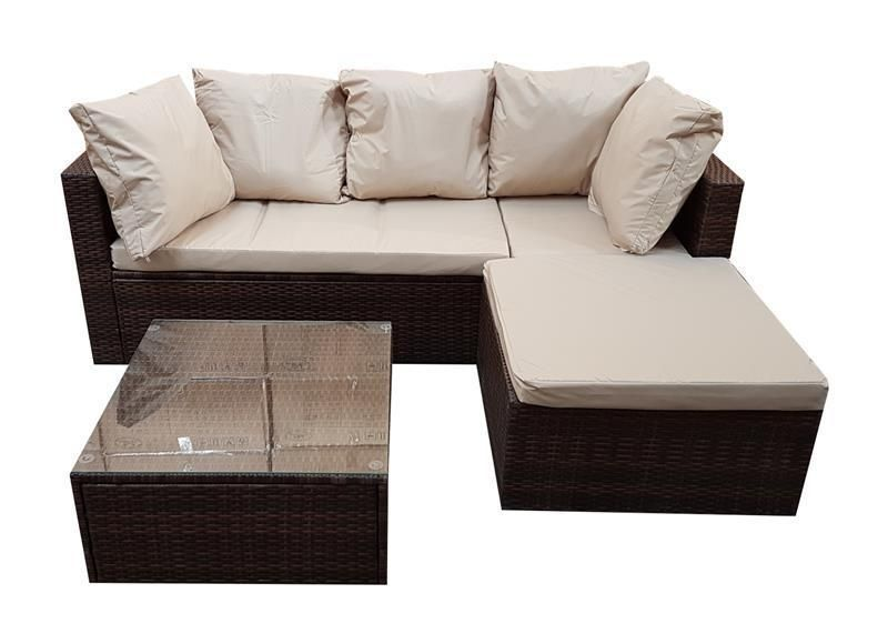 Details zu Polyrattan Lounge Gartenmöbel Set Garnitur Sitzgruppe