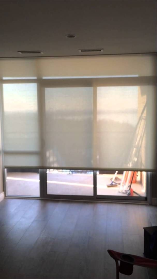 Recessed Somfy motorized shade can act as a quiet