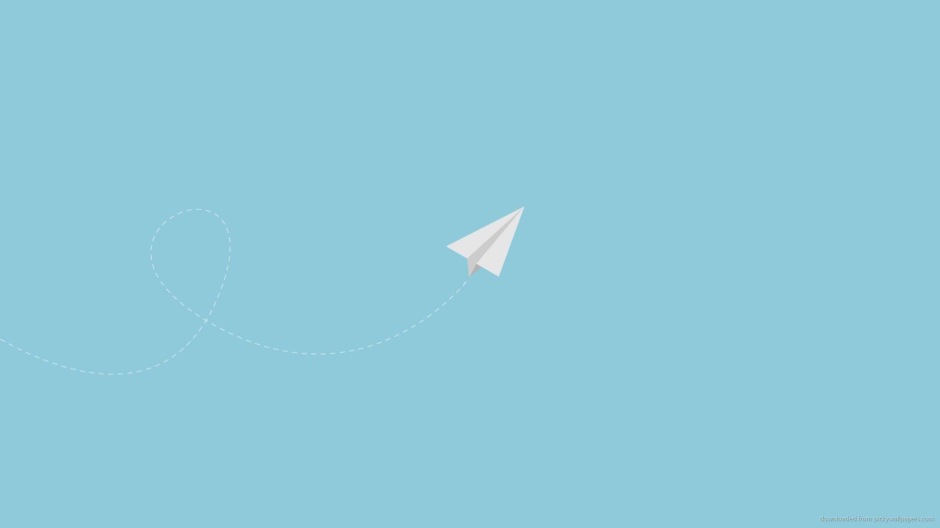 Paper Plane 1920x1080 Minimalist Desktop Wallpaper Minimal Wallpaper Minimalist Wallpaper