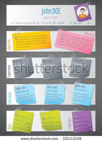 resume templates colorful - Google Search Miss Kinders Resume - colorful resume templates