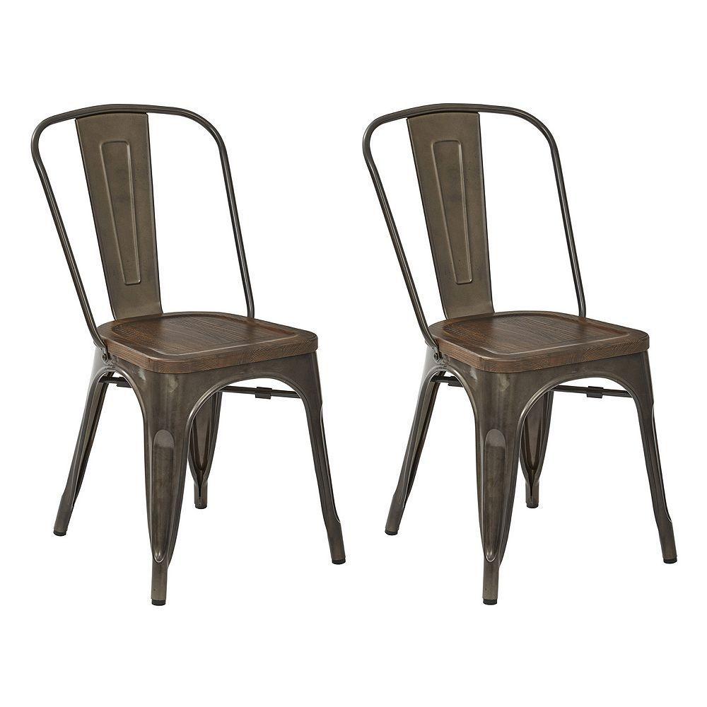 Osp Designs Indio Metal Dining Chair 2 Piece Set