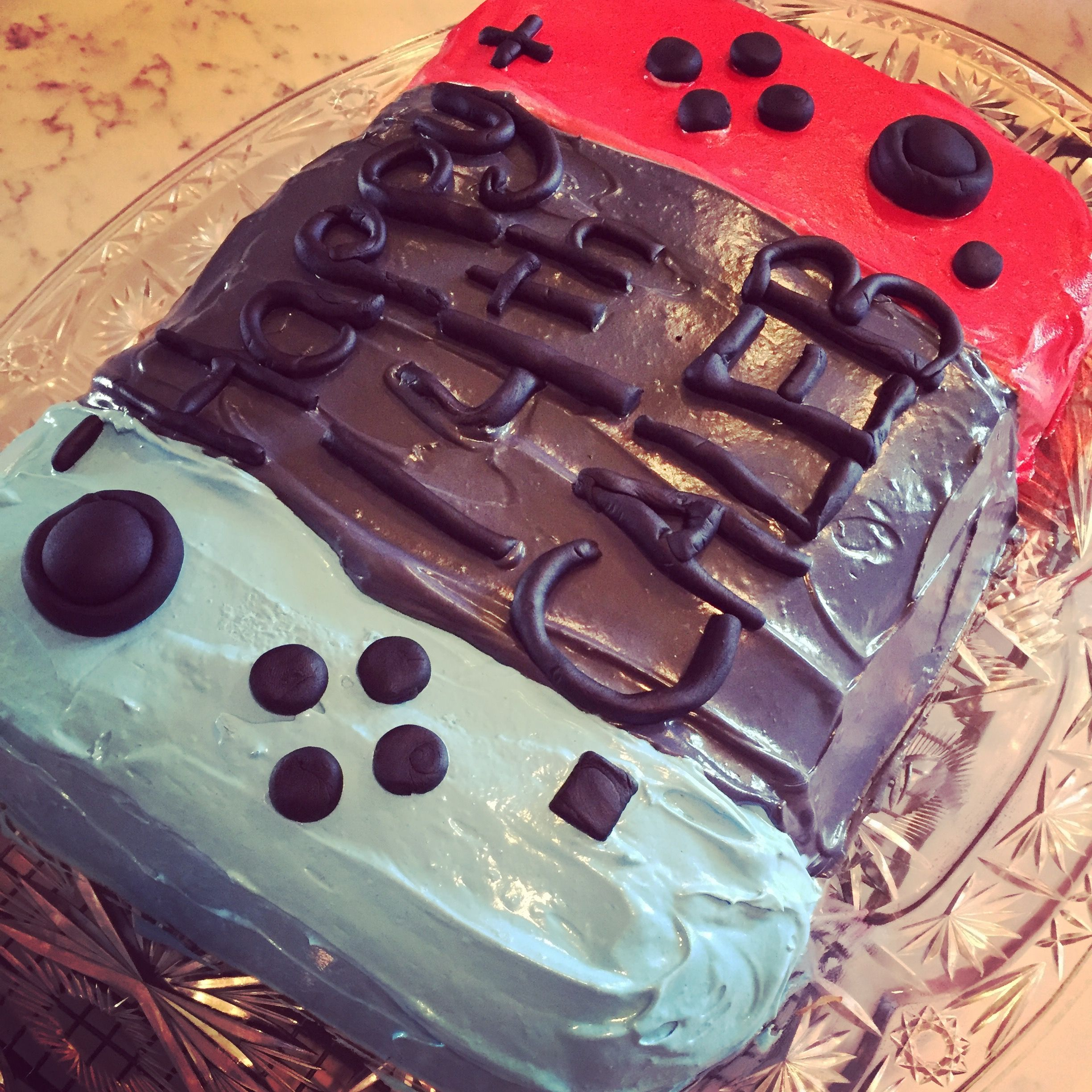 I made this Nintendo Switch Cake for my son's 14th