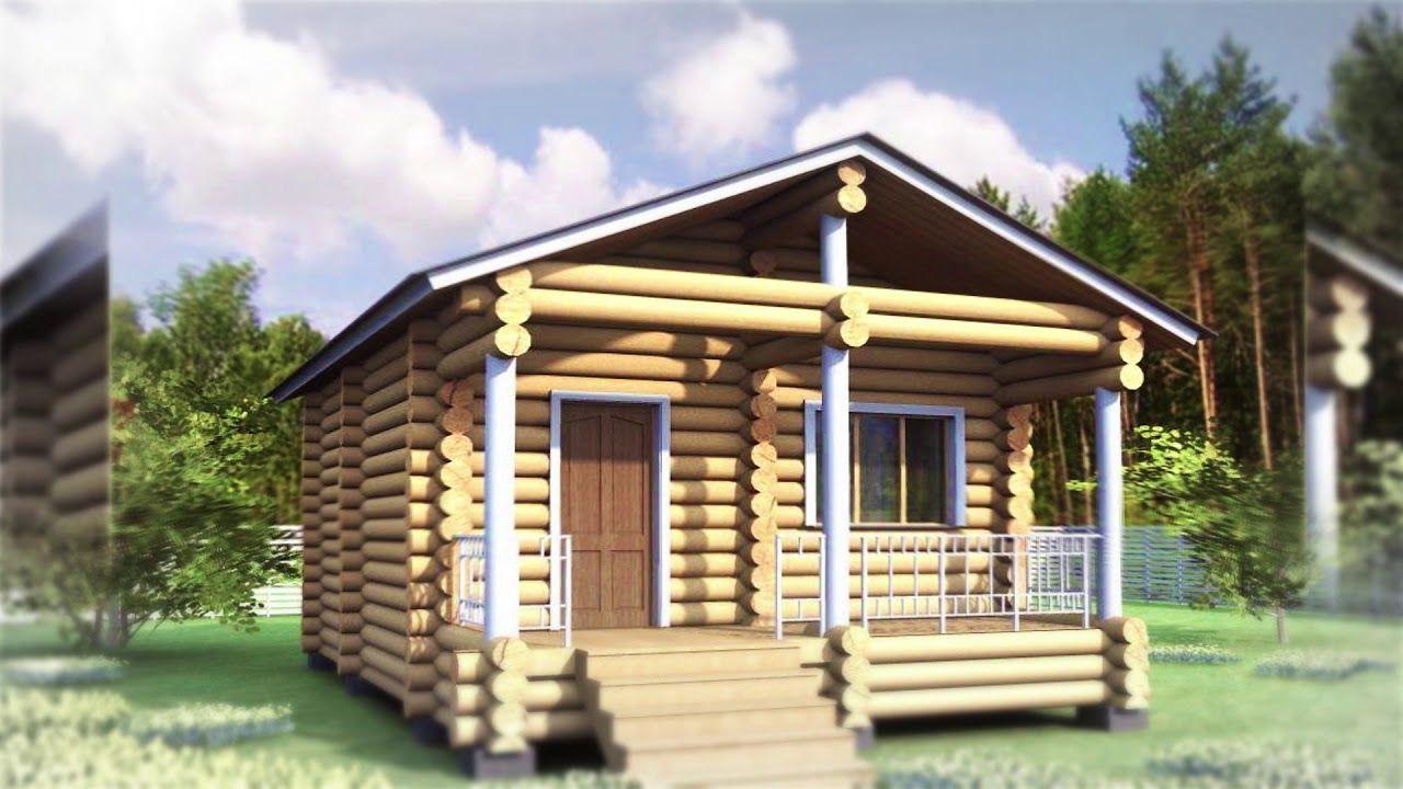 Проект бани из бруса с террасой. Деревянные дома и бани из ...