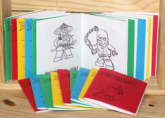 FREE Printable Lego Coloring Book Party Favors