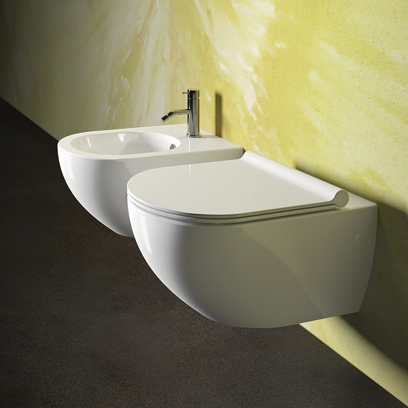 catalano sfera wall hung toilet with slim seat and cistern with  - catalano sfera wall hung toilet with slim seat and cistern with button rogerseller