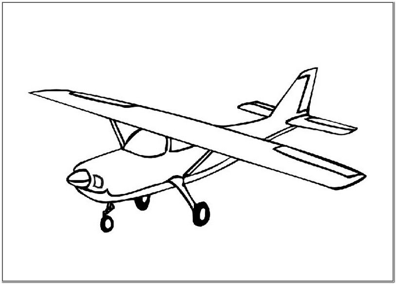 5 Simple Airplane Coloring Pages For Toddlers Airplane Coloring