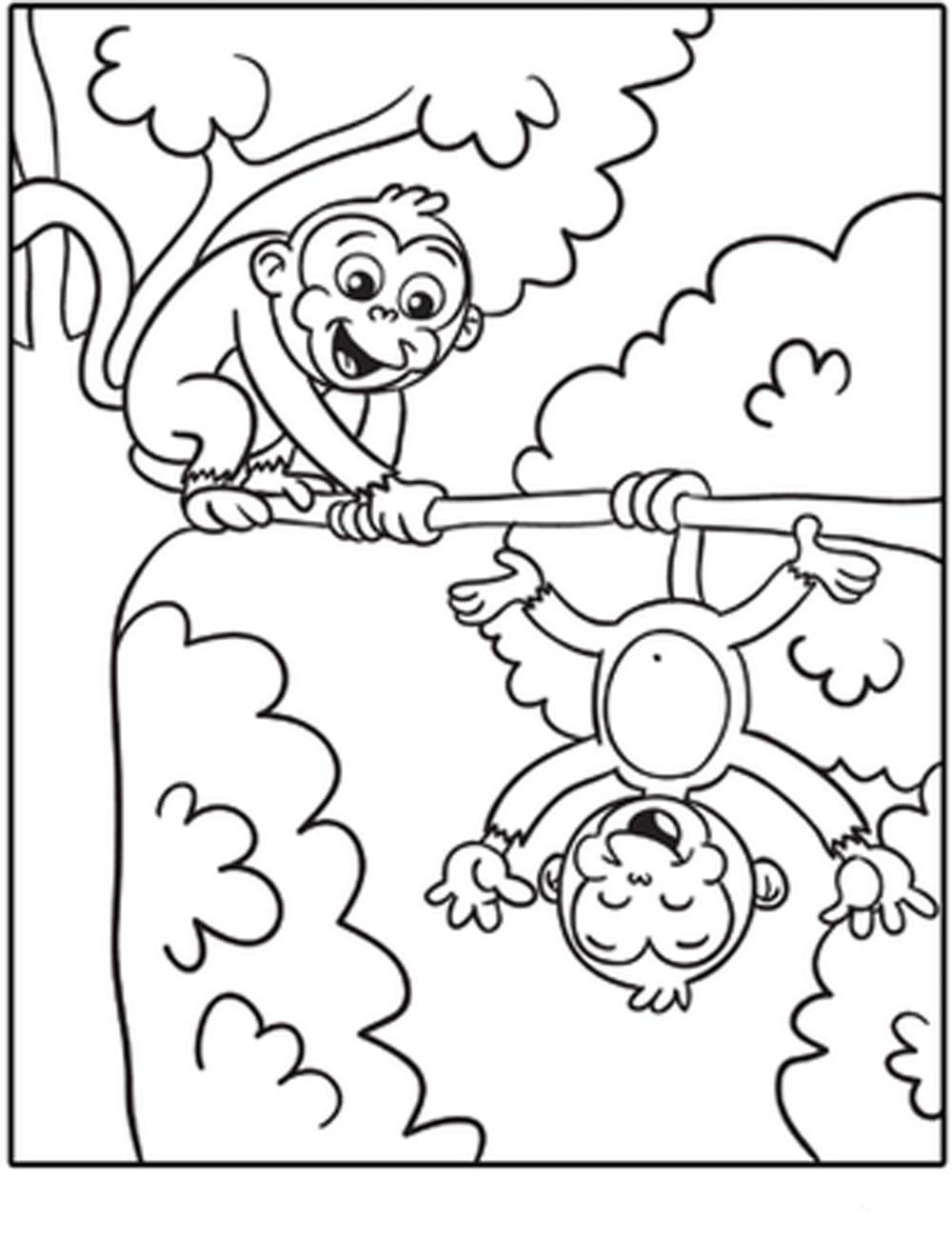 Monkey Coloring Pages For Kids Free Coloring Sheets Monkey Coloring Pages Printable Coloring Pages Animal Coloring Pages