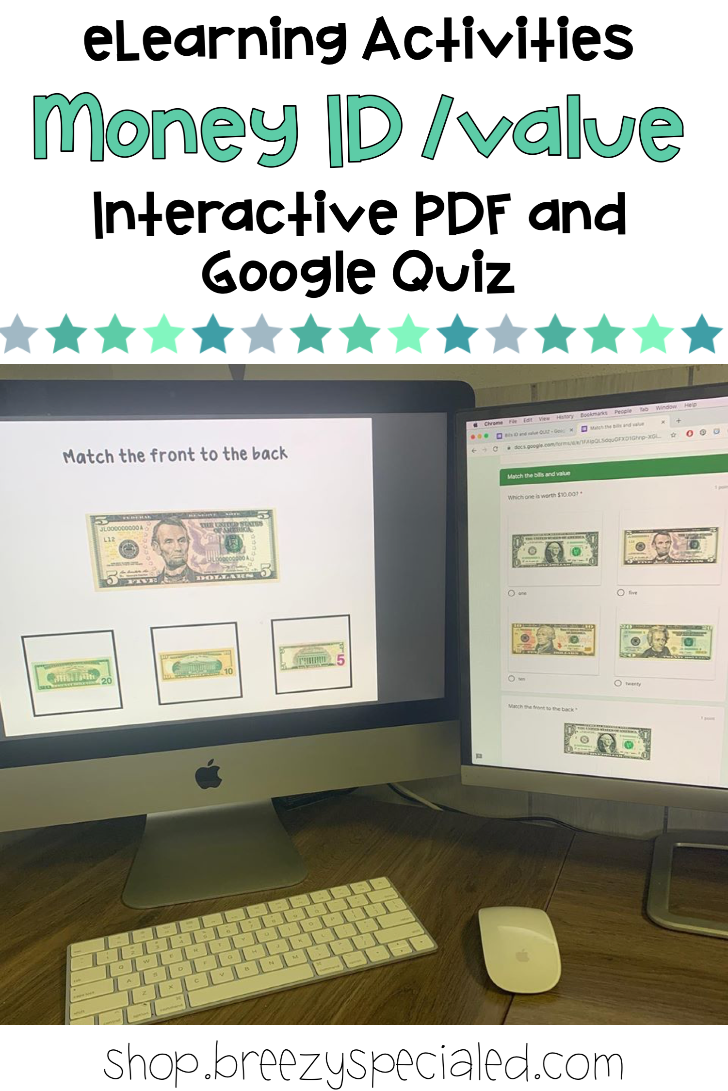 Money Math Bills Id And Value Interactive And