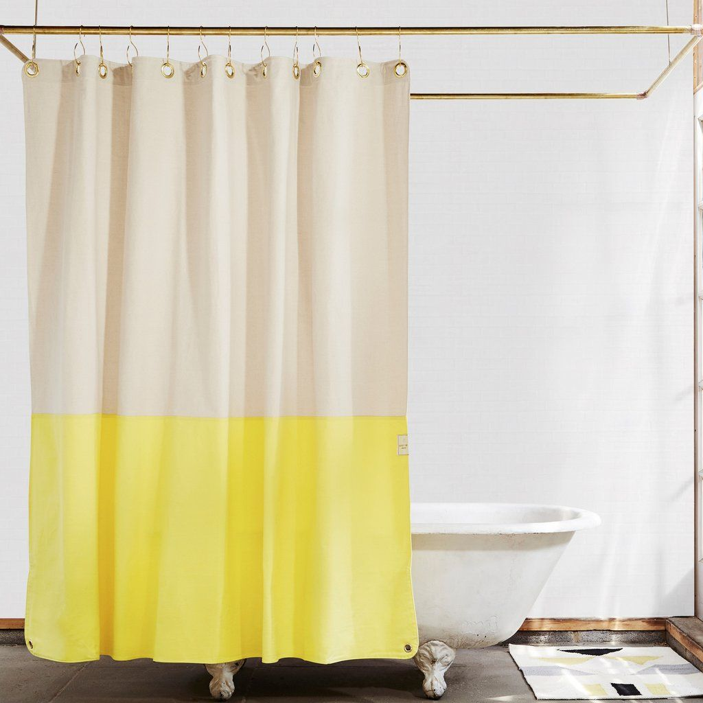 Orient Hike Color Blocked Shower Curtain Quiet Town Cool Shower Curtains Cotton Shower Curtain Bathrooms Remodel