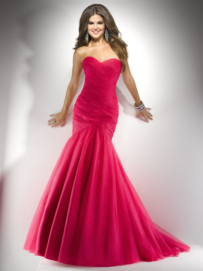 Hot-Pink-Mermaid-Prom-Dress.jpg (674×898) | seniis dresses ...