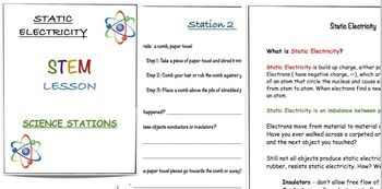static electricity science stations sc 5 p 10 4 science stations