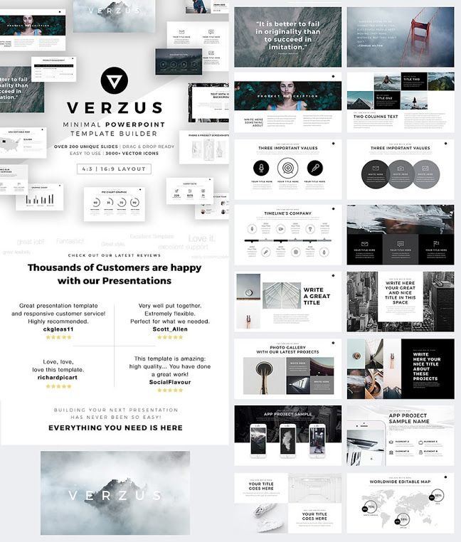 Verzus Awesome Powerpoint Template With Minimal Style 레이아웃 레이아웃 디자인 디자인