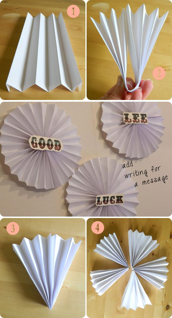 Make a fan party wall hanging