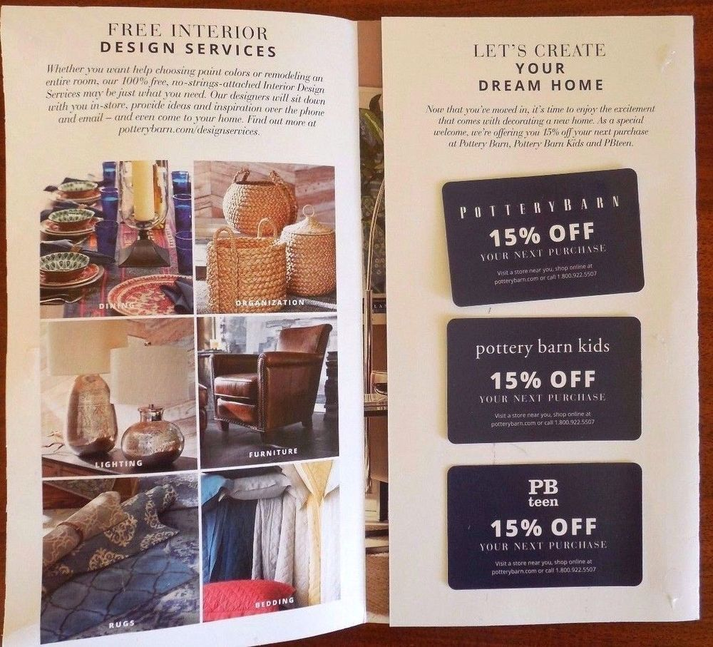 Pottery Barn Coupon Design Inspiration Furniture Design For Your