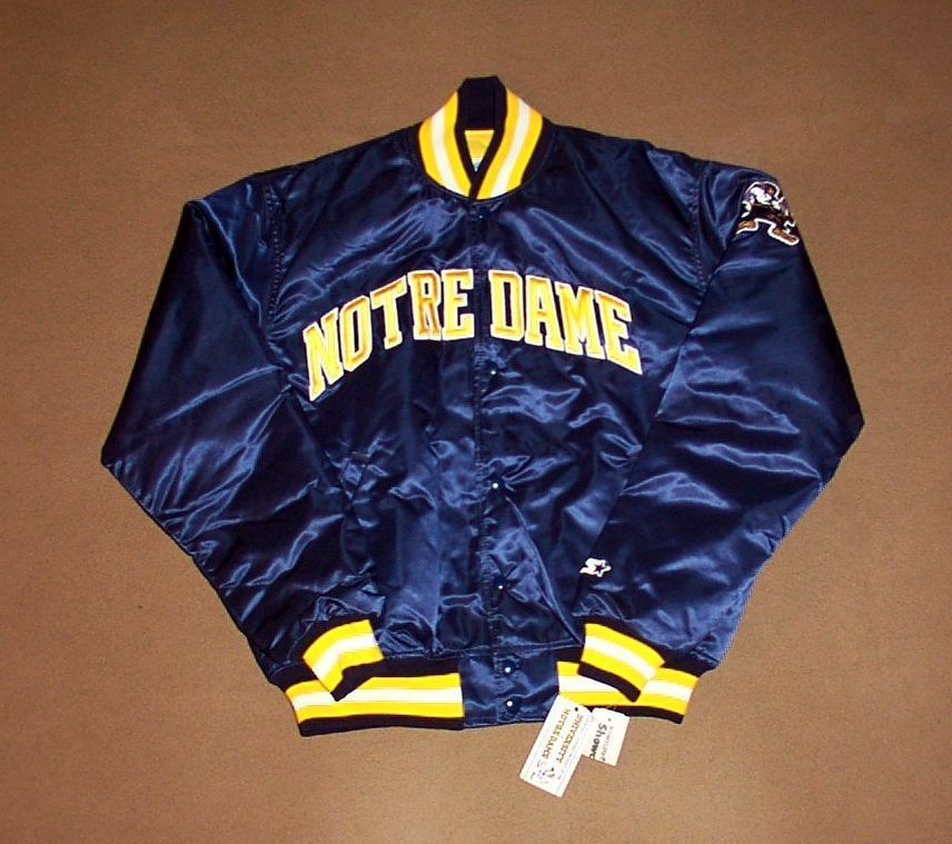 8e51027ee VINTAGE Notre Dame JACKET Starter FIGHTING IRISH X-Large NEW WITH ...