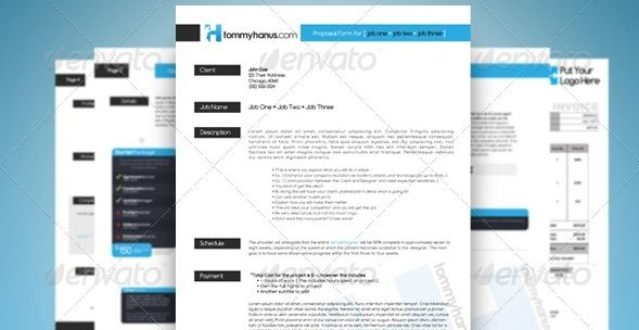 Sleek Proposal Professional Proposal Template Advertise