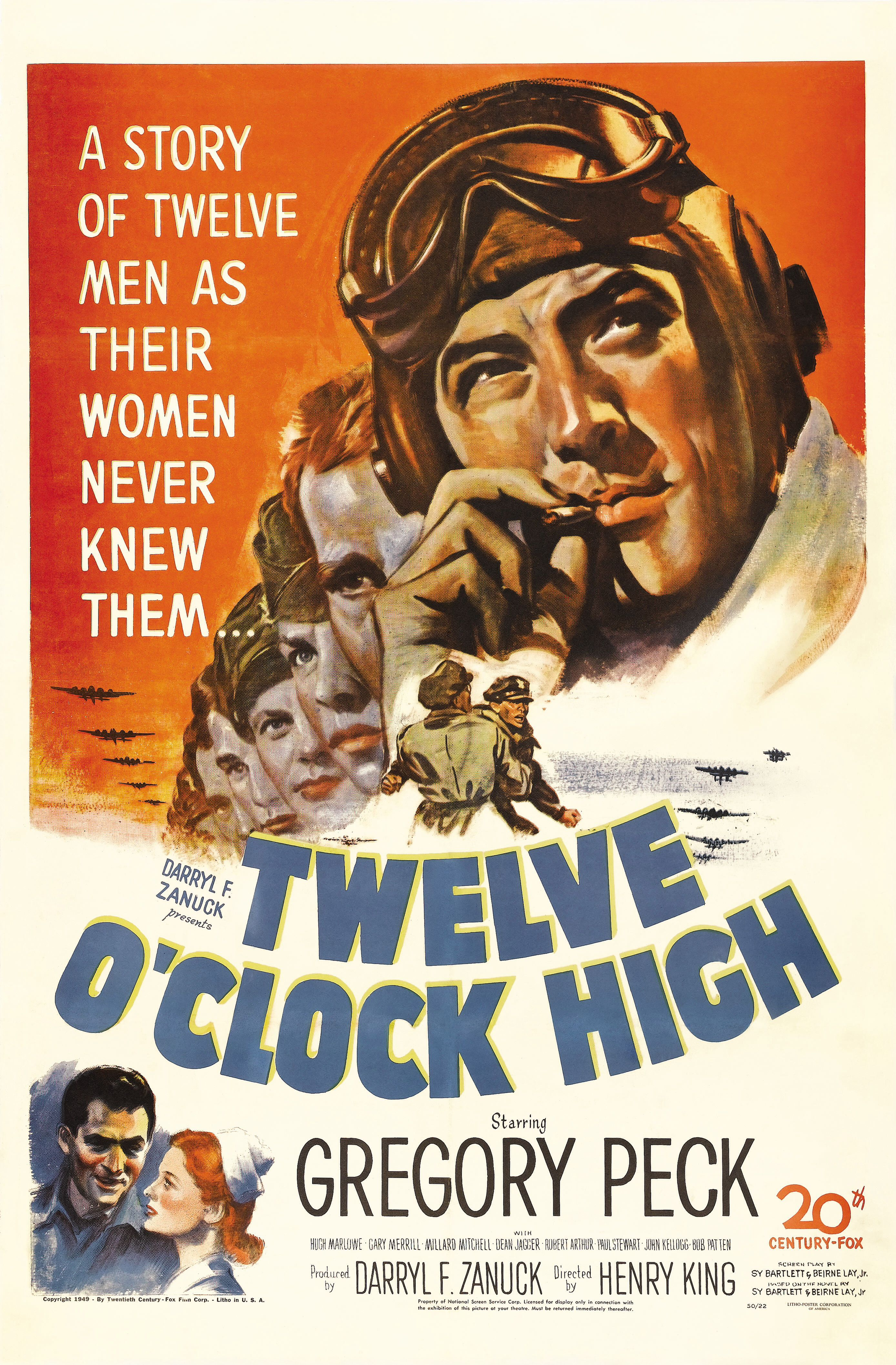 Twelve O Clock High 1949 Gregory Peck With Images War Movies