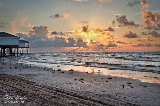 Sunrise Galveston Beach Sunrise Galveston Beach