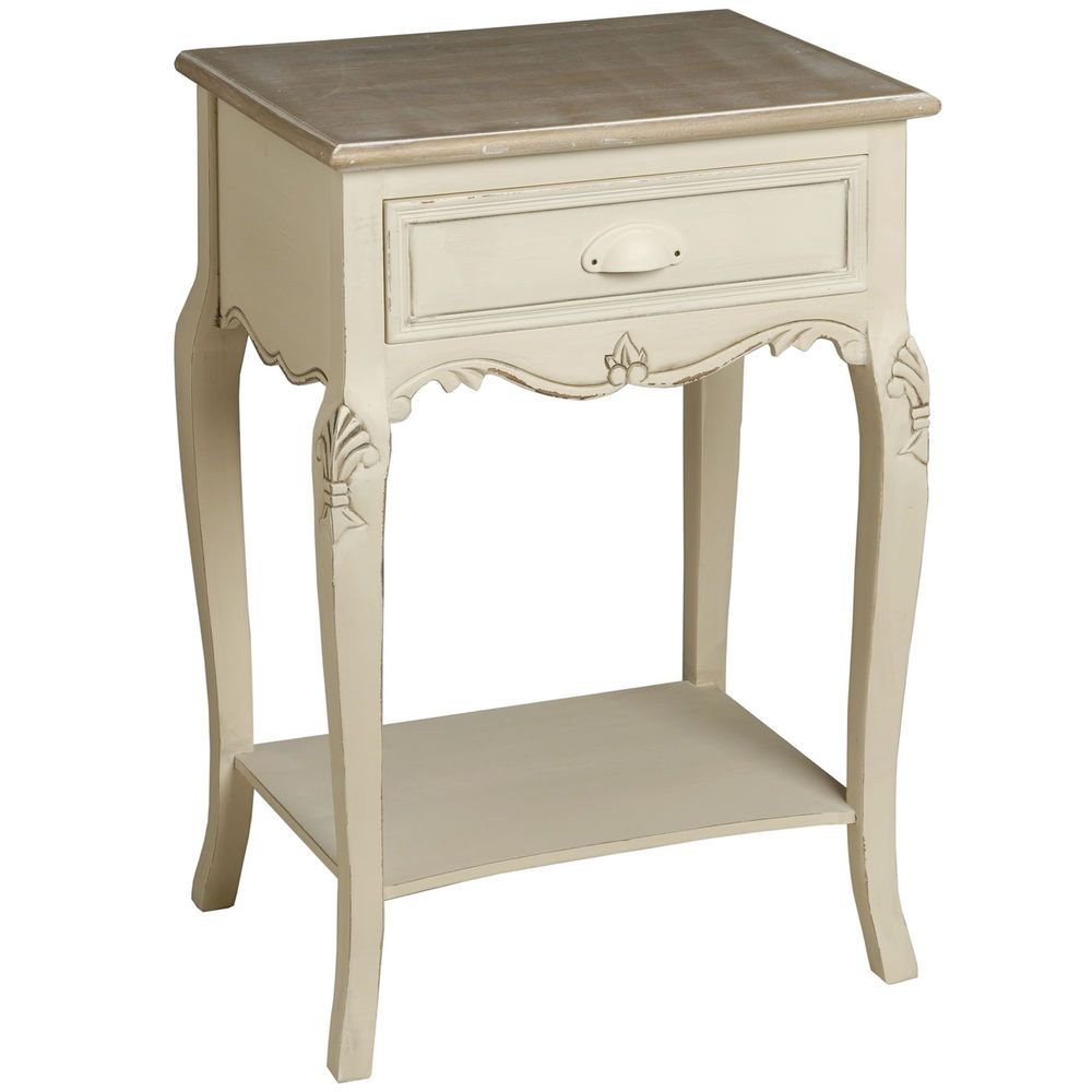 New shabby chic antique style french country cream bedside table new shabby chic antique style french country cream bedside table cabinet h7827 geotapseo Images
