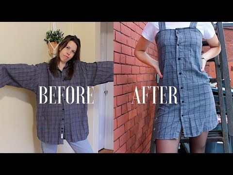 DIY | Upcycle Men's Button Up Shirts -- Ep. 2: Dress (Urban Outfitters Style) - YouTube #diyclothes