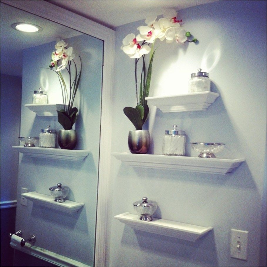 43 Creative Bathroom Shelves Decorating Ideas   Gongetech