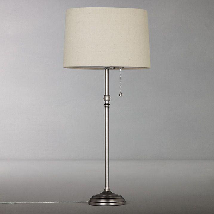 isabel table lamp john lewis pewter and desks