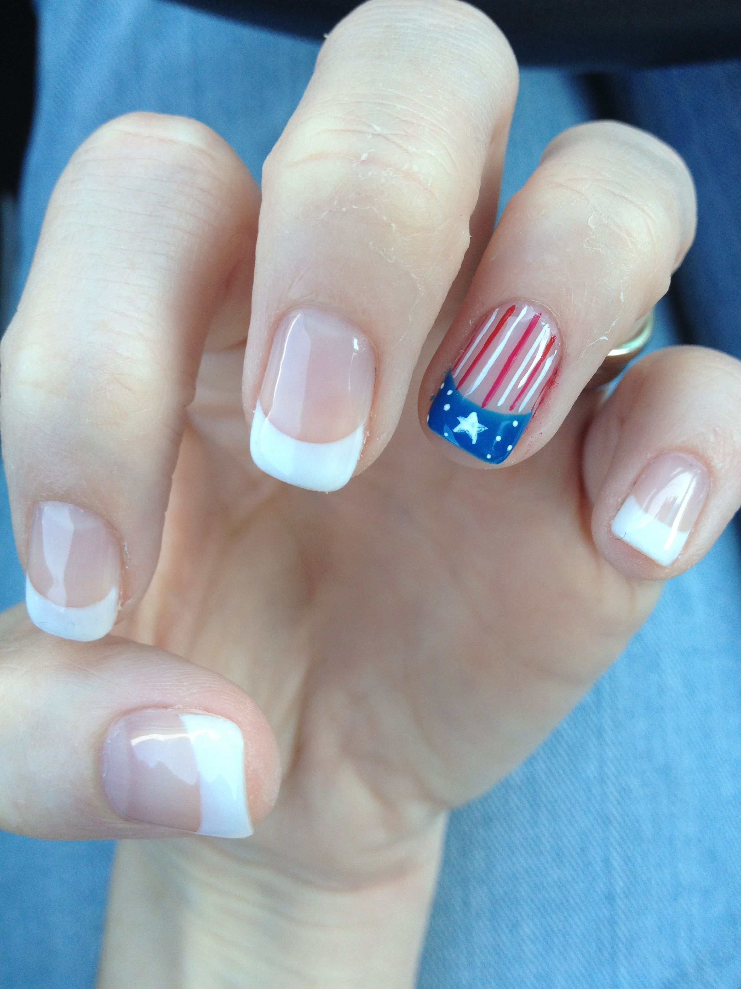 American Flag Nails 4th If July Nails Fancy Nails Designs