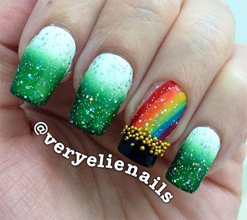 St Patricks Day Nail Art Designs St Patricks Day Nail Art
