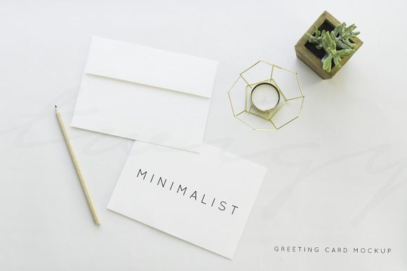 Greeting Card Mockup Minimalist by TwigyPosts on Creative Market - greeting card templates