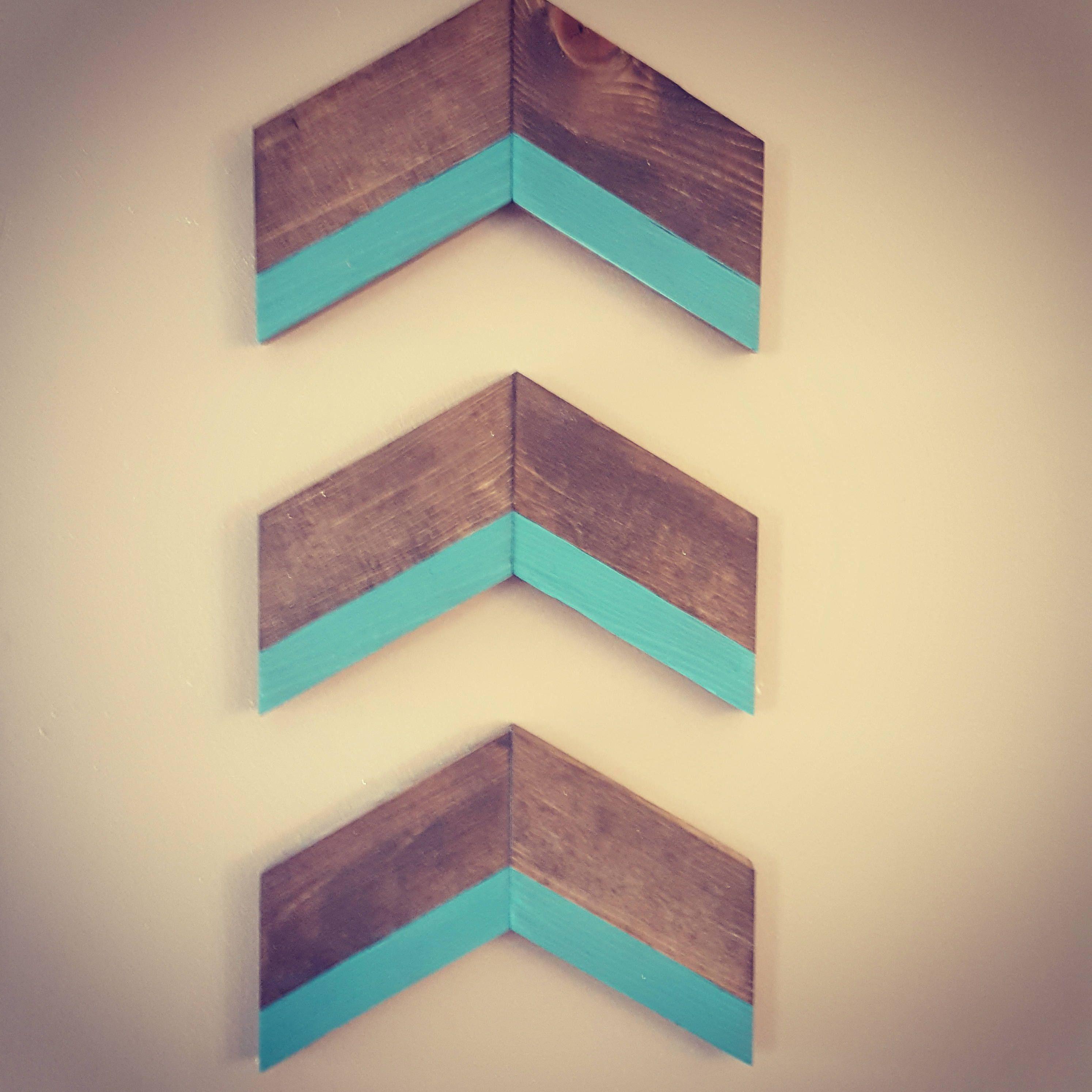 Chevron arrows wood, arrows decor, chevron arrows wall decor ...