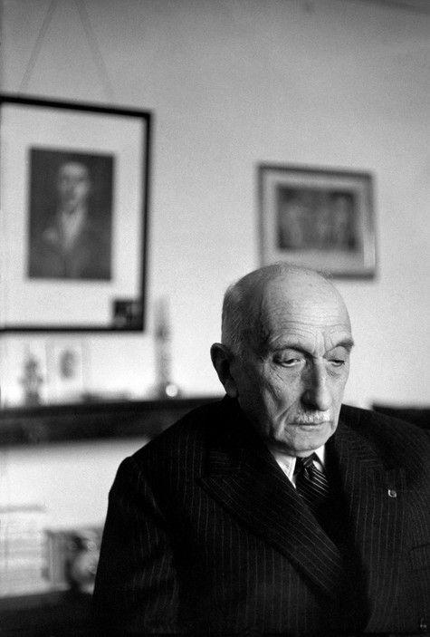 Henri Cartier-Bresson - France. 1964. Aquitaine. Gironde. French writer François MAURIAC at his home in Malagar, near Bordeaux.