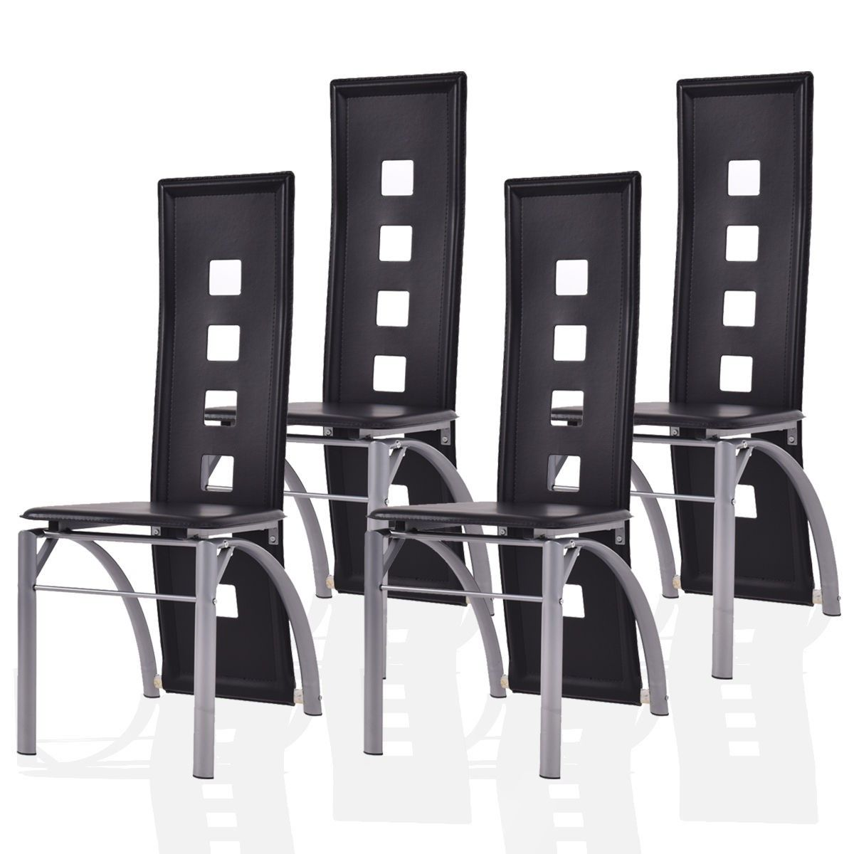 150 Reference Of Black Leather High Back Dining Chair In 2020 Black Kitchen Chairs Dining Chairs Wooden Kitchen Chairs