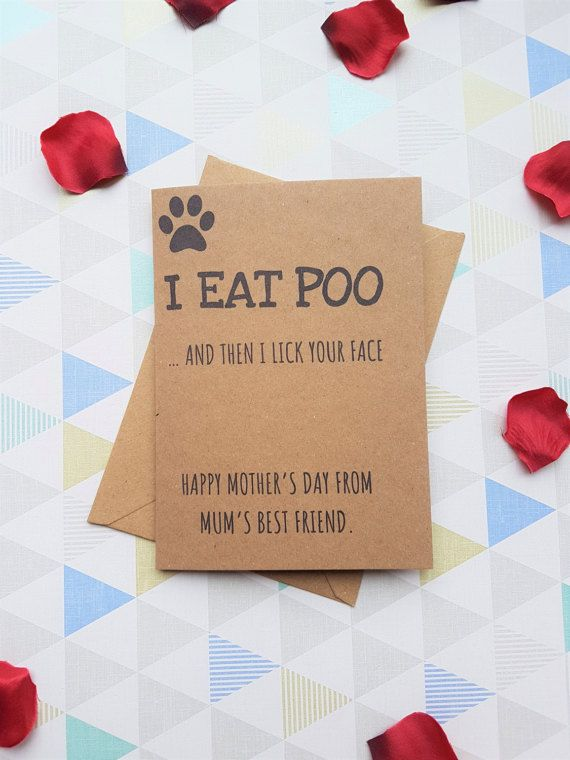 Dog Lover Gift Mum Card Mothers Day