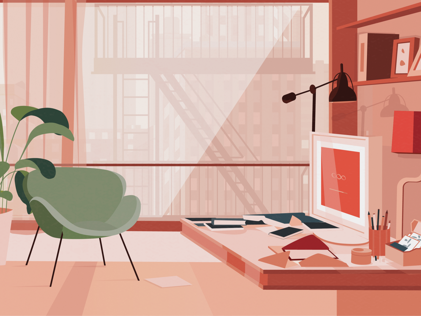 Her Mood With Images Interior Illustration Design Grafico