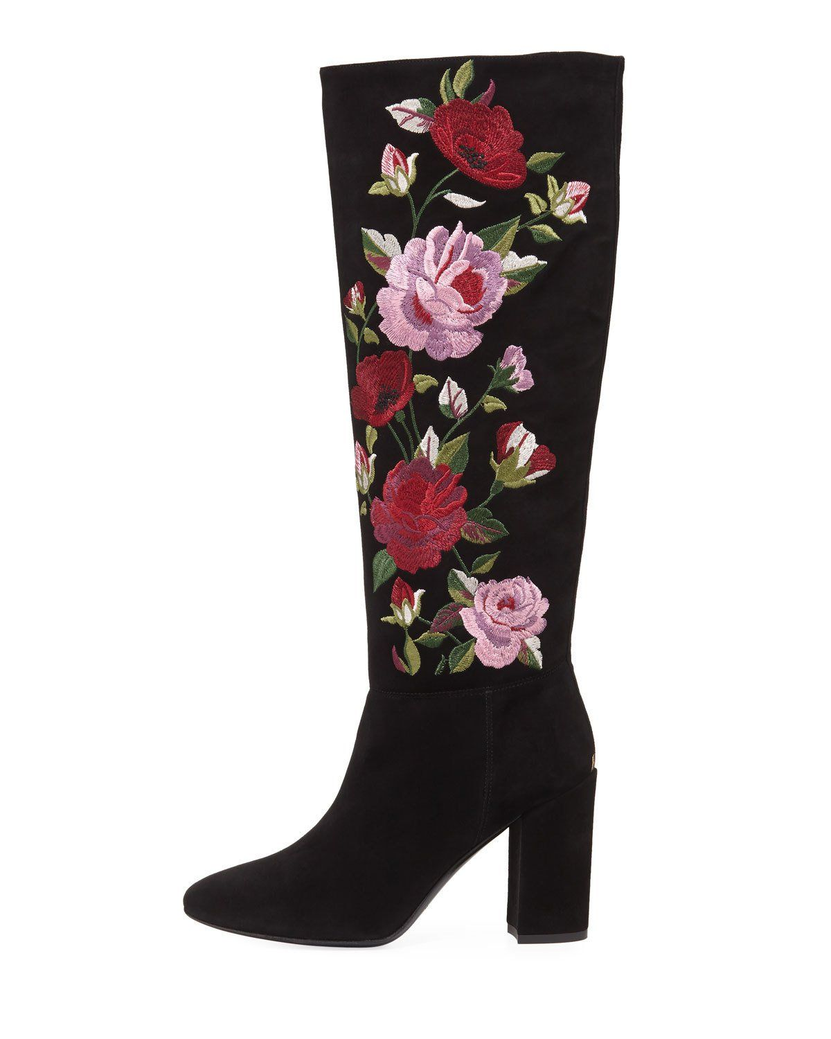 f1495e95903 Kate Spade New York greenfield floral-embroidered knee-high boot ...