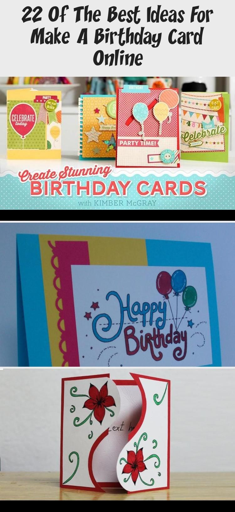 22 Of The Best Ideas For Make A Birthday Card Online In 2020 With