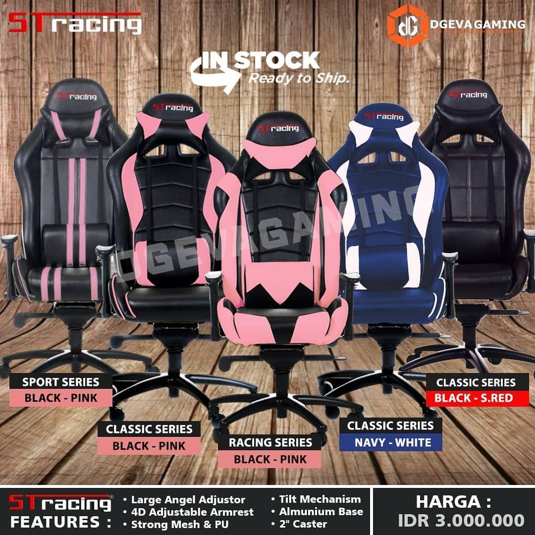 Kursi Gaming St Racing Pink - KURSIKO