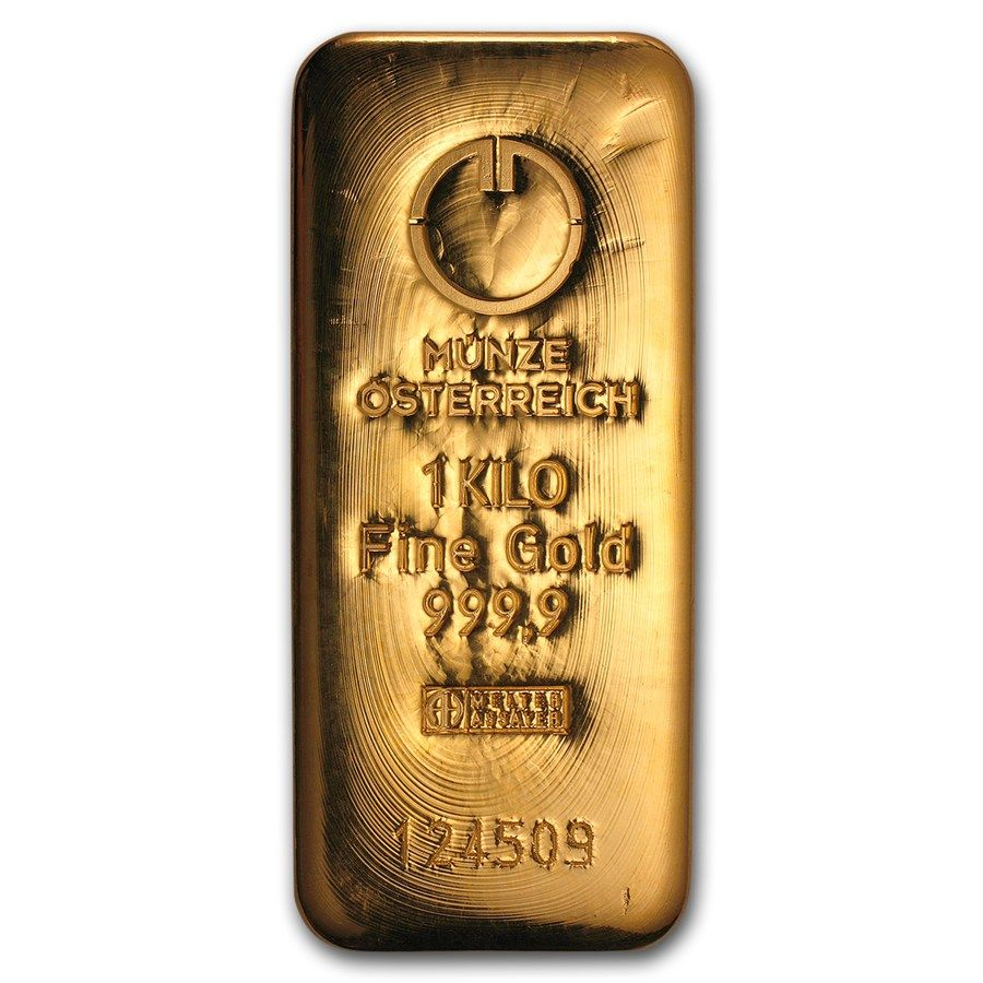 1000 Gram Gold Bar Austrian Mint Cast Gold Bar Gold Bullion Bars Gold