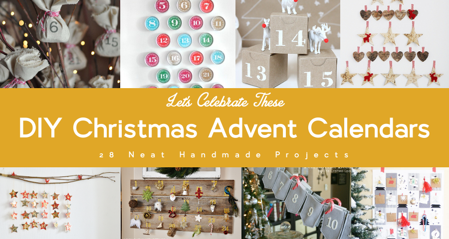 DIY Christmas advent calendars featured by MostCraft!