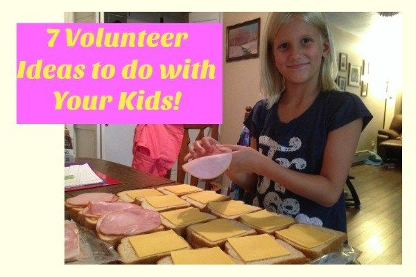 7 Volunteer Ideas to do With Your Children