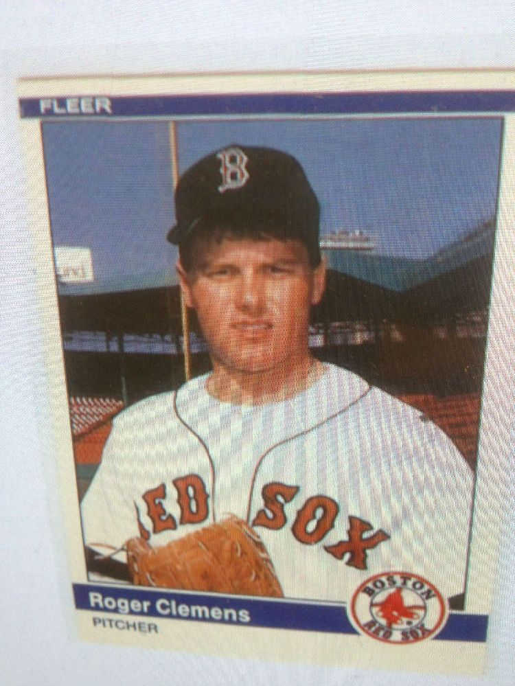 1984 Fleer Update 27 Roger Clemens Rookie Rc From Set