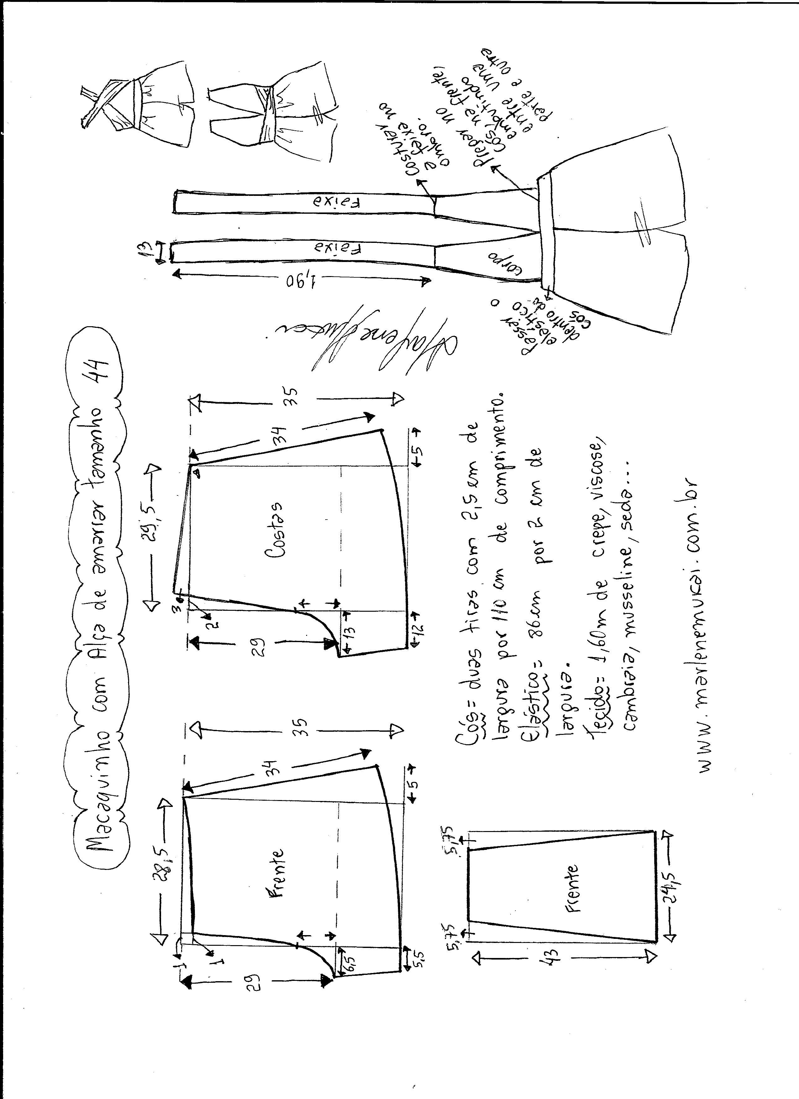 Pin by Elaine Marques on Costura | Pinterest | Sewing, Pattern and ...