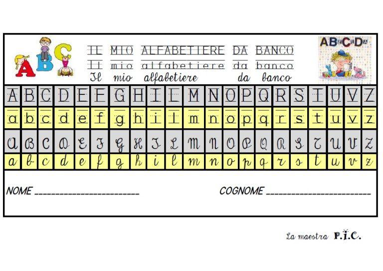 Classe Prima Maestra P I C Con Immagini Alfabeto Compiti