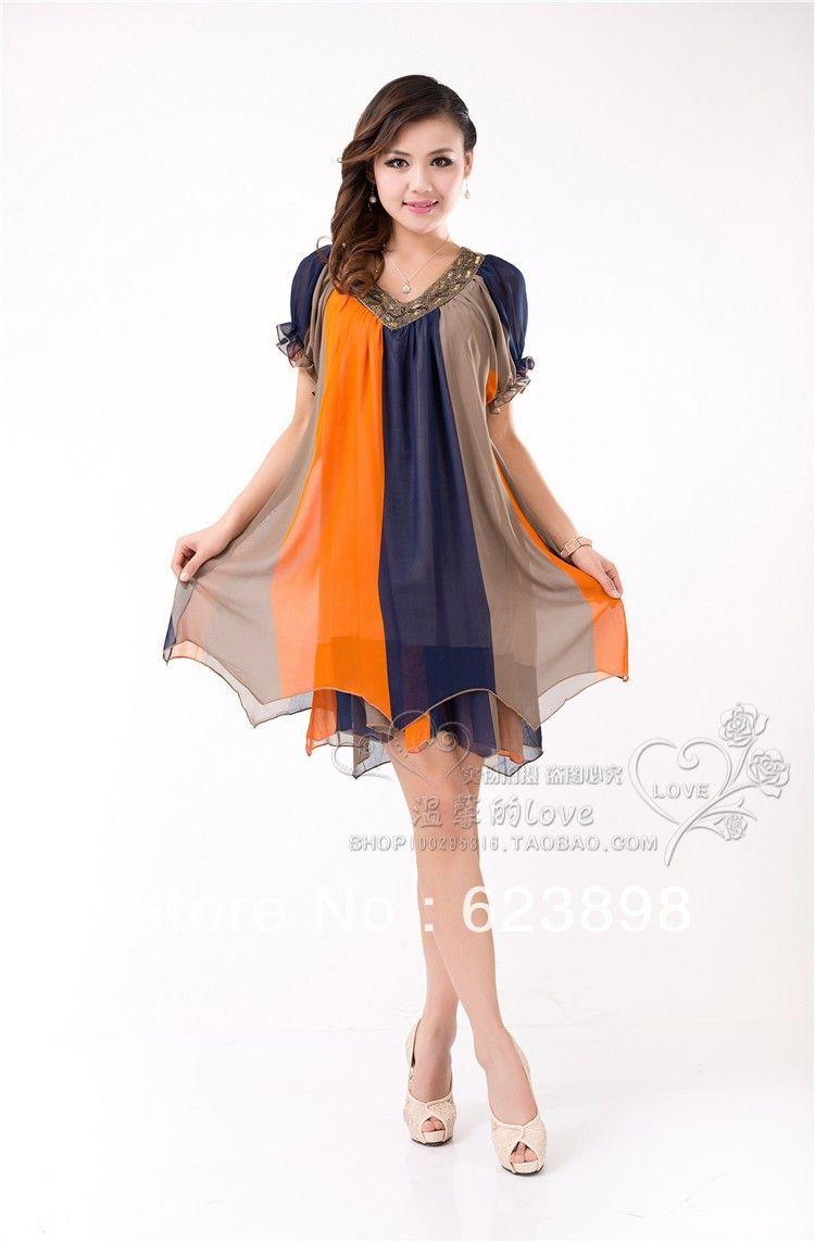 2013 New Plus Size Fashion Floral Irregular Elegant Chiffon Dresses