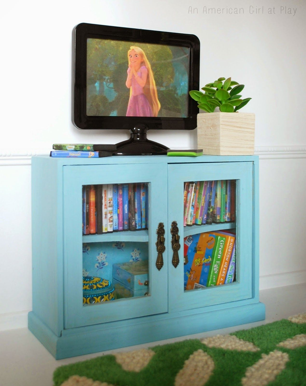 In 2015 this little Hobby Lobby Cabinet off was a DVD TV stand