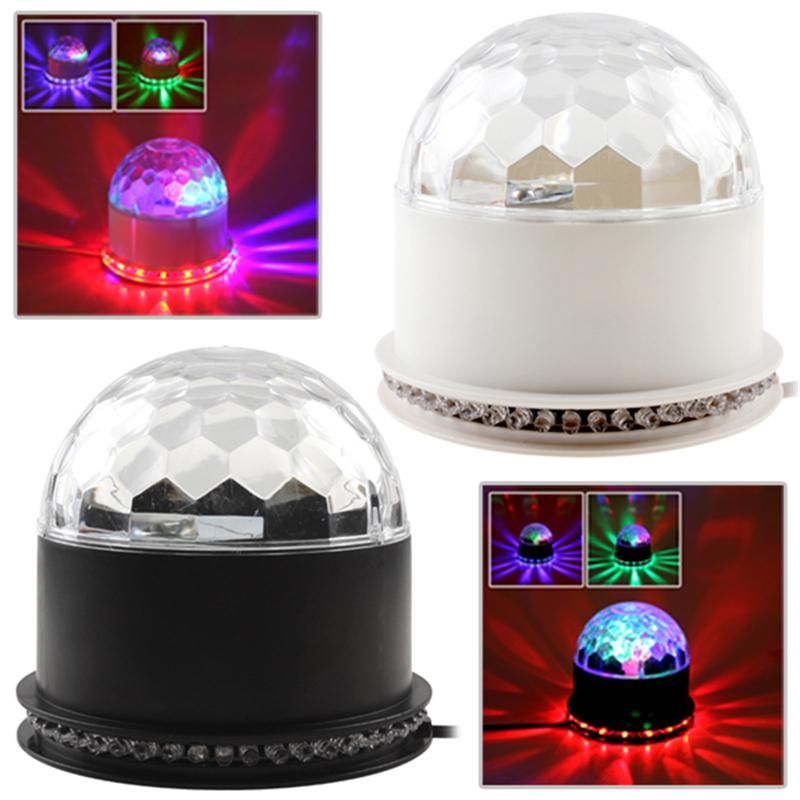 New Arrive Stage Lights Laser Projector Led Rotated Base Voice Activated Led Crystal Magic Ball Light Disco Dj Crystal Magic Ball Magic Ball Light Ball Lights