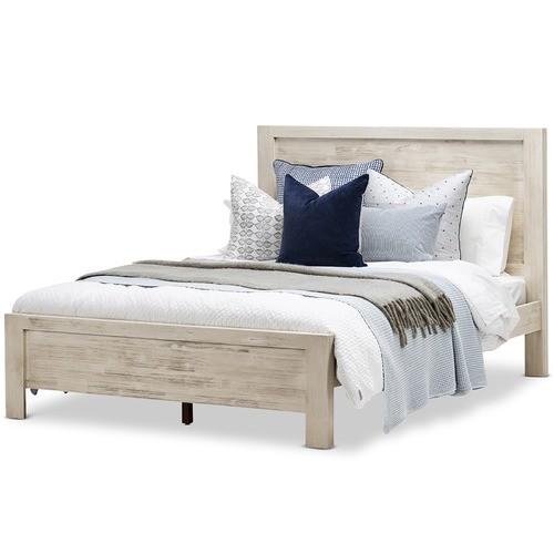 White Wash Arya Acacia Wood Queen Bed Frame Temple Webster In 2020 Queen Bed Frame Grey Bed Frame Bed Frame
