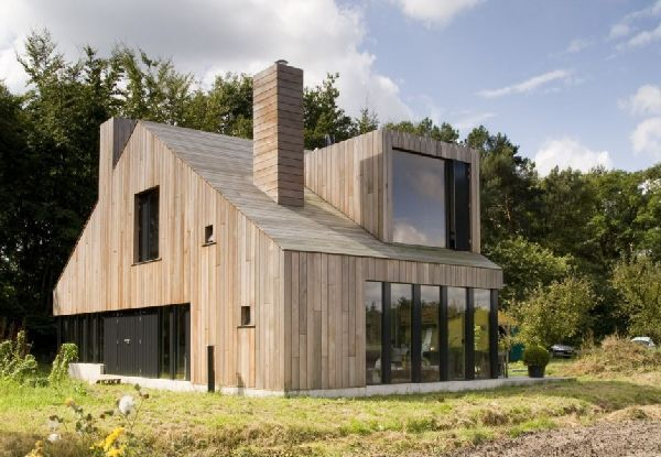 Classic Wooden House With Chimney Design In Bosschenhoofd, Netherlands